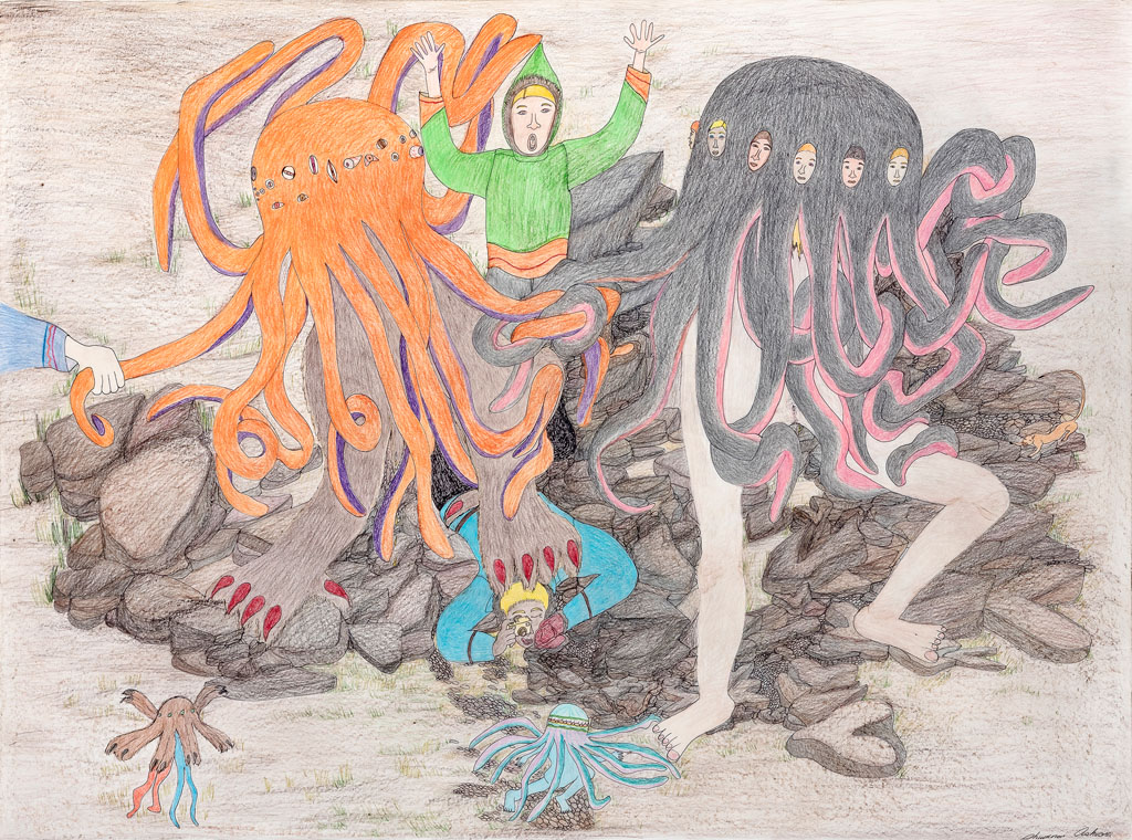 Shuvinai Ashoona, Composition (Attack of the Tentacle Monsters)